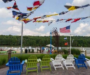 Cruise on a swan boat at the South Mountain Recreation Complex