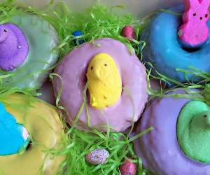Grab a festive Easter donut and meet the Easter Bunny at Stan's Donuts and Coffee Shop. Photo courtesy of the shop