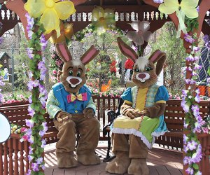 Meet Mr. and Mrs. Bunny at Storybook Land. Photo courtesy of Storybook Land