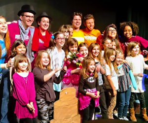 At Storytown Improv, kids help shape the story, and actors, artists, and musicians bring it to life! Photo courtesy of Storytown Improv
