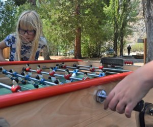 Huttopia Paradise Springs: Discover the Best New Glamping near Los Angeles: Poolside foosball