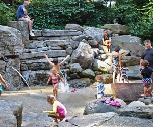 Kids playing in teardrop water park