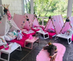 TeePeeDreamzNY Kid party set up Westchester Birthday party