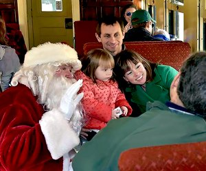Visit with Santa Claus on the Christmas Express. Photo courtesy of the NJ Museum of Transportation
