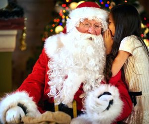Share your wish list with Santa at the Mansion at Glen Cove.  Photo courtesy of the mansion