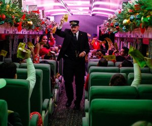 All aboard the Polar Express in Whippany for a magical one-hour ride to the North Pole. Photo courtesy of Rail Events Productions