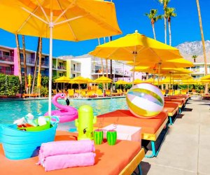 The Saguaro in Palm Springs, California, beckons families with its pool and more.