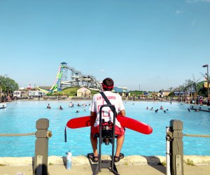 Best Outdoor Water Parks near Chicago: Lifeguard at hurricane harbor