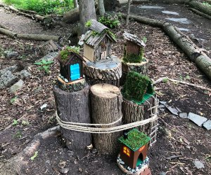 Fairy house on a trail in Verona, New Jersey
