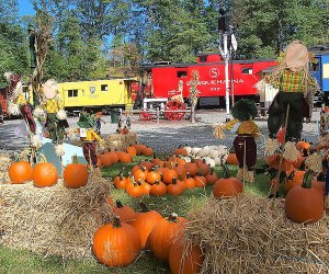 """The Whippany Railway Museum's Pumpkin Festival includes a ride on the """"Pumpkinliner,"""" plus other festive fall fun."""