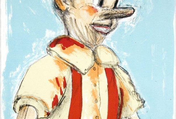 """05 Pinocchio Portfolio, 2006 Lithograph"""