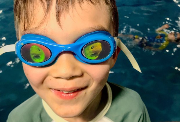 Excited about swim lessons at Fitness Alive
