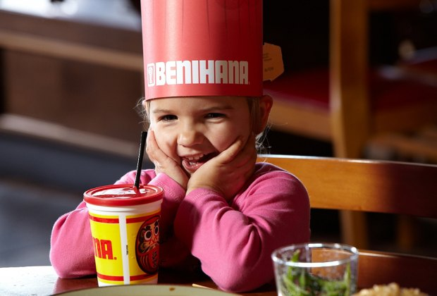 A Benihana hibachi hat will bring a smile to your child.