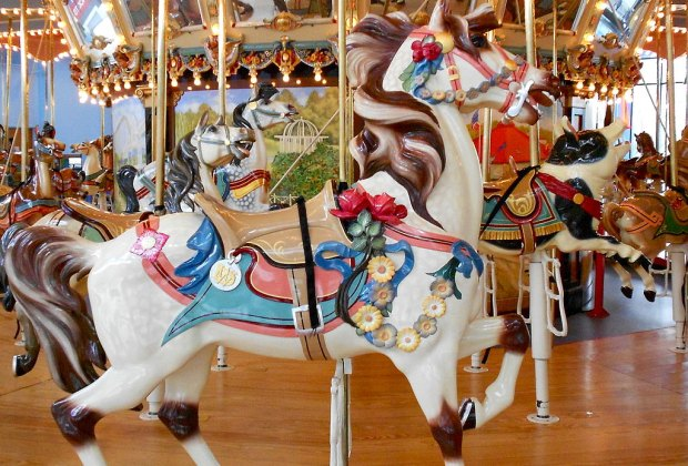 Choose your favorite animal for a fun time on Please Touch Museum's Carousel Ride