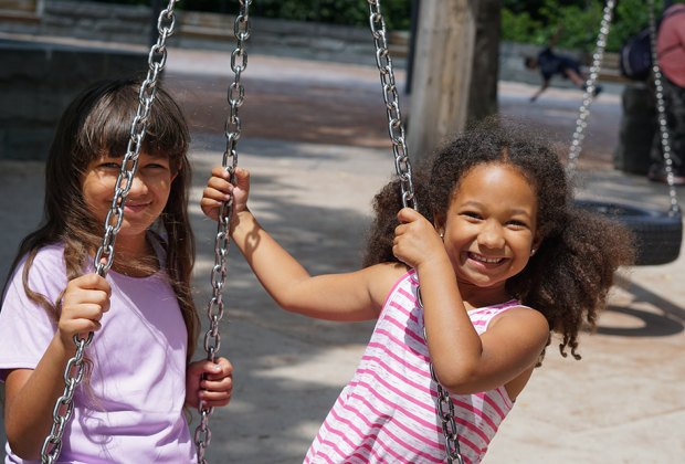 The tire swings at the East 110th Street Playground in Central Park are worth a twirl.