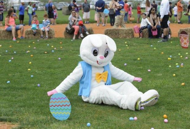 The Easter bunny hunts eggs at Smith Ranch./ Photo courtesy Smith Ranch via Facebook