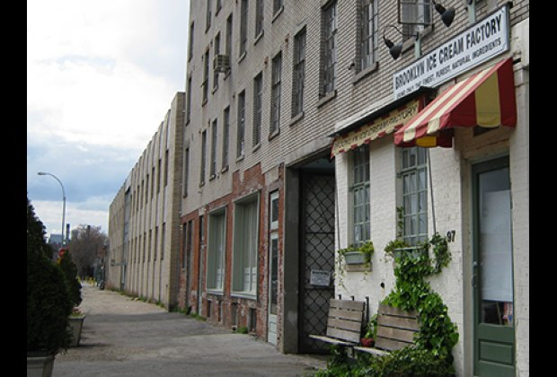 Greenpoint's Brooklyn Ice Cream Factory--it may not be as pretty as the Brooklyn Bridge location but it's just as sweet