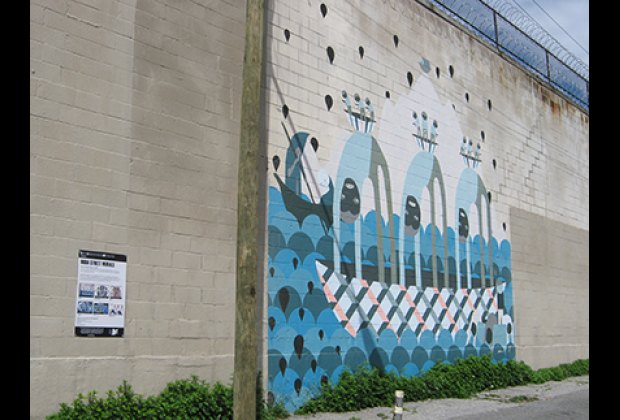 An eye-catching India Street mural