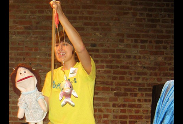 Tots love the interactive Puppetsburg shows