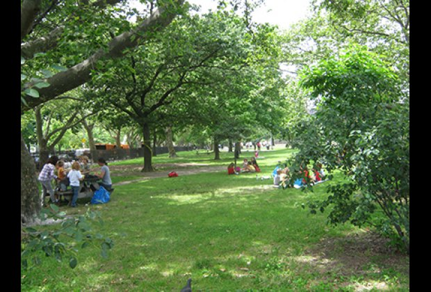 Picnic tables and grassy lawns are perfect places to eat