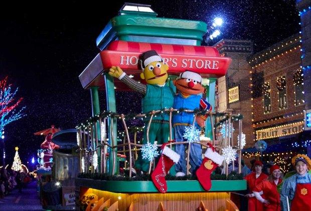 Sesame Place Very Furry Christmas Parade official photo