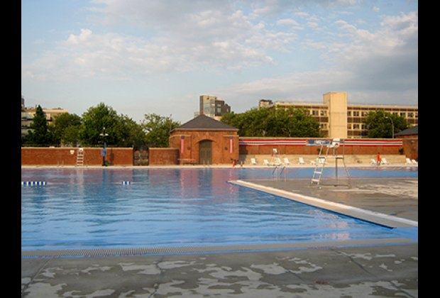 The recently renovated McCarren Park Pool