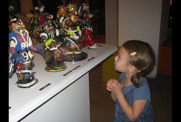 Taking in RAMMELLZEE's fantastical figurines