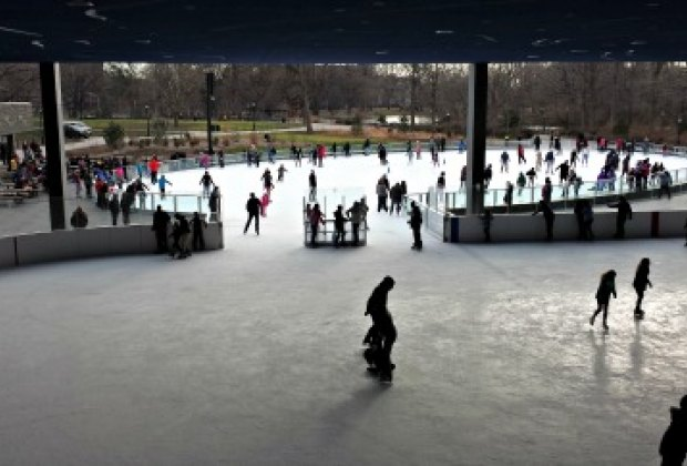 Lakeside's two rinks, one open-air, the other covered, are connected but can be separated by a sliding wall