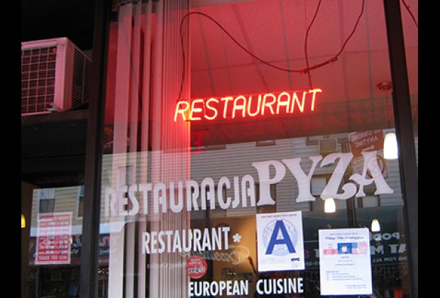 The nabe is filled with Polish restaurants and food stores