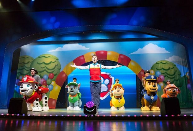 Kids can see their favorite characters come to life during Paw Patrol Live at the Hobby Center./ Photo courtesy Paw Patrol Live