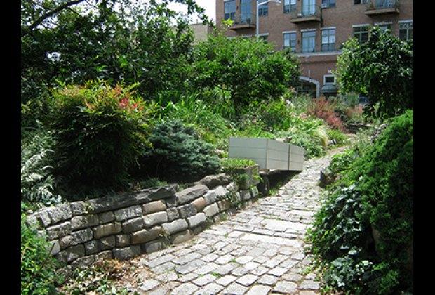 A serene path in the Green Dome Garden