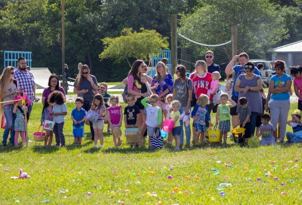 Waiting to begin  at the 2018 City of Seabrook Easter egg hunt./Photo courtesy City of Seabrook via Facebook