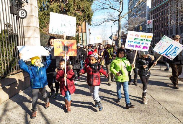 Join the Manhattan Country School for the 30th Annual Martin Luther King, Jr. Commemorative March. Photo courtesy of the school