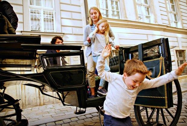Fiaker ride in the city center