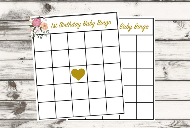 First Birthday Party Ideas for Quarantine Babies: Play Baby Bingo