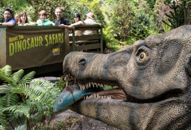 Go prehistoric at Dinosaur Safari at The Bronx Zoo. Photo courtesy of the zoo