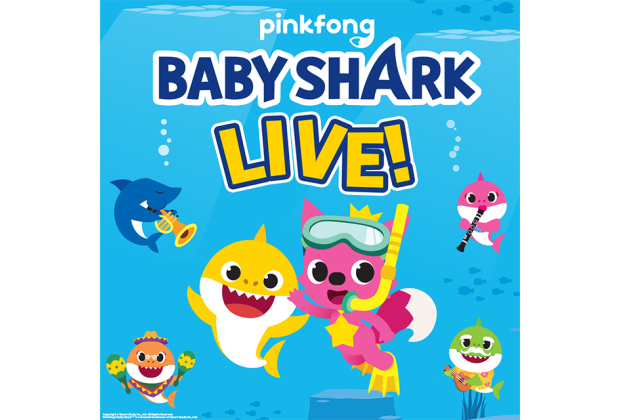 Join the Baby Shark gang at its first live show, opening in October. Image courtesy of Pinkfong