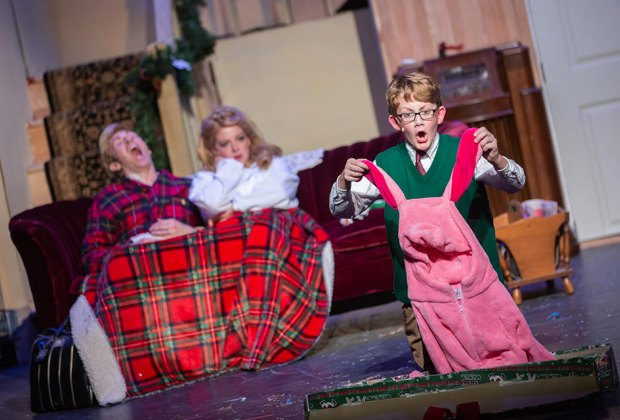 See one of your favorite holiday movies live onstage with A Christmas Story: The Musical. Photo courtesy of the production
