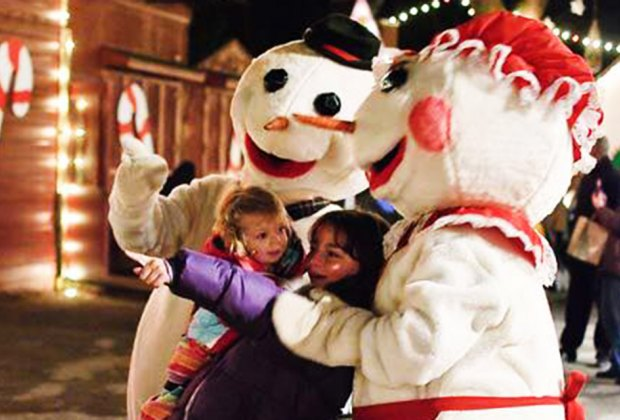 Visit with beloved holiday characters at Frosty Fest. Photo courtesy of the event