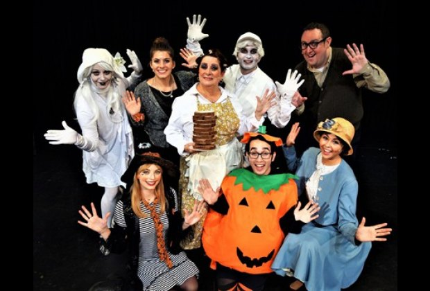 Abner the ghost is afraid of the dark in A Kooky Spooky Halloween. Photo courtesy of Theatre Three