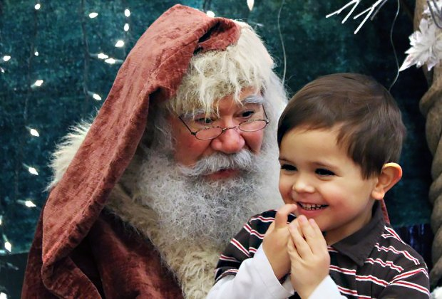 The magic of the season twinkles with Santa's smile at ABC Carpet and Home. Photo by Meagan Newhart