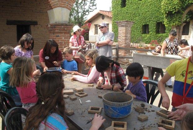 Creating adobe bricks
