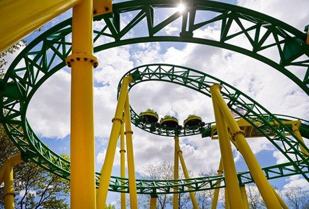 Ride Turbulence at Adventureland amusement park on Long Island