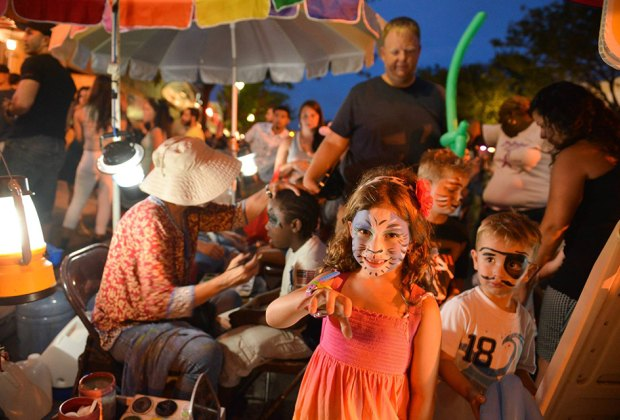 Patchogue's Main Street closes down on select days in July and August for Family Fun @ Alive After 5. Photo courtesy of the event
