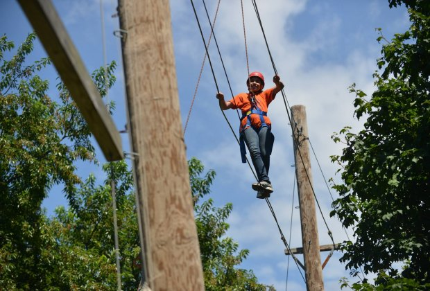 The Alley Pond Rope Course is a thrilling challenge. Photo courtesy of NYC Parks
