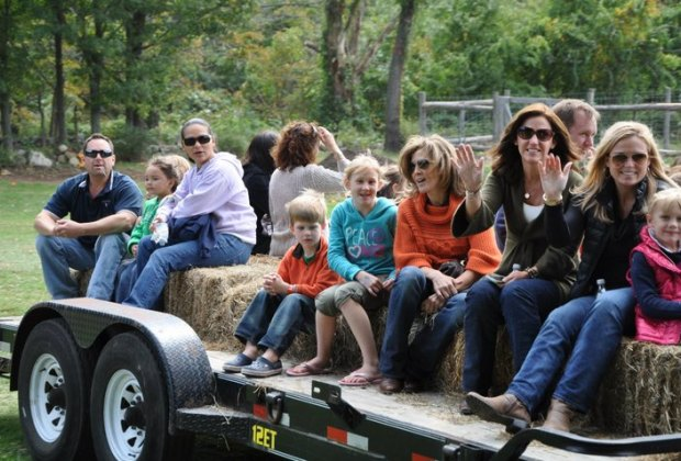 Hayrides are happening all over the state. Photo courtesy of Ambler Farm