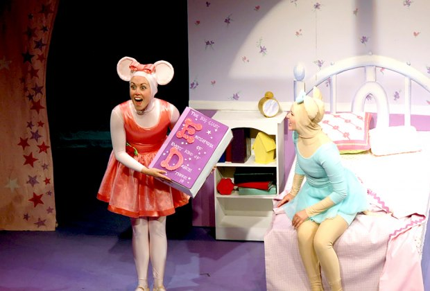 Angelina Ballerina dances into the Vital Children's Theatre with an original holiday musical. Photo by Steven Rosen.
