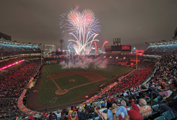 Didn't get enough fireworks last week? Here's your chance again. Photo courtesy of Angels Baseball