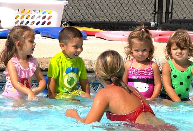 Summer fun AND learning including daily swim lessons at Apple Montessori Schools