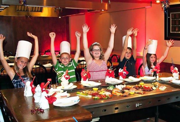 Kids eat FREE on Mondays and Tuesdays at Arirang Hibachi Steakhouse.